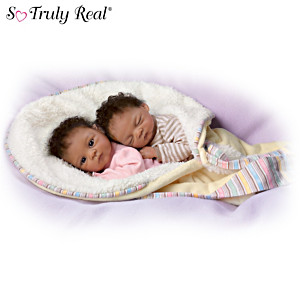 "Waltraud Hanl ""Jada And Jayden"" Poseable Twin Baby Doll Set"