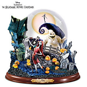 Nightmare Before Christmas Snowglobe With Lights and Music