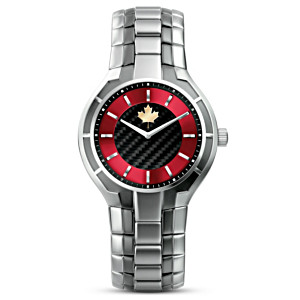 "Canadian Pride ""Strong And Free"" Carbon Fibre Men's Watch"