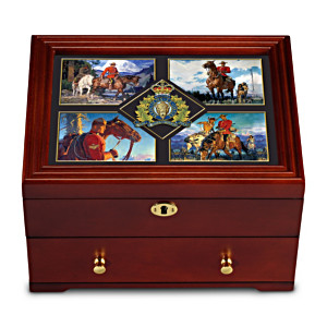 Royal Canadian Mounted Police Wooden Keepsake Box
