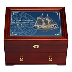 """The Bluenose Schooner"" Men's Keepsake Valet Box"
