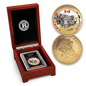D-Day Landings Commemorative Golden Crown Coin
