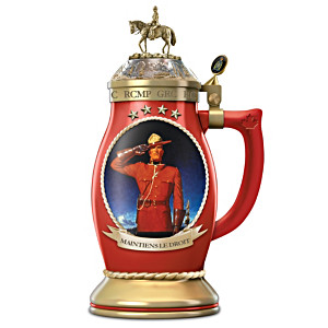 RCMP Porcelain Stein With Historic Arnold Friberg Artwork