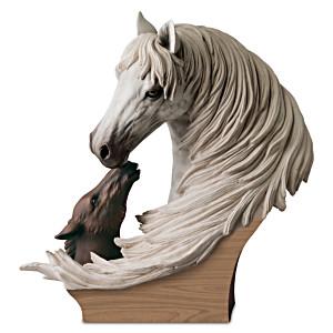 """A Tender Bond"" Lipizzan Mare And Foal Sculpture"