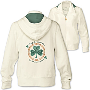 """An Irish Blessing"" Women's Designer-Style Hoodie"