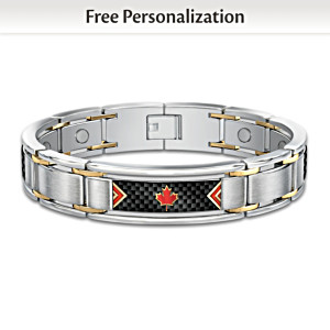 """The Spirit Of Canada"" Personalized Monogram Men's Bracelet"