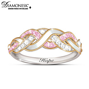 """Strength Of Hope"" Breast Cancer Awareness Women's Ring"