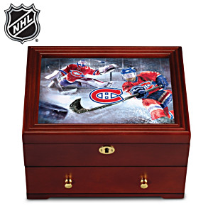 Montreal Canadiens® Custom-Crafted Wooden Valet Box
