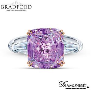 """""""Rare Orchid"""" 11-Plus Carat Diamonesk Stones Ring"""