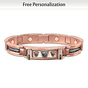 Mind, Body And Spirit Custom Copper Magnetic ID Bracelet