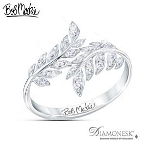 """Bob Mackie """"Glittering Goddess"""" Women's Diamonesk Ring"""