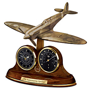 The Spitfire British Fighter Tribute Thermometer And Clock