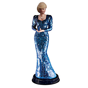 "Princess Diana ""Beauty & Grace"" Sculpture With Mosaic Dress"