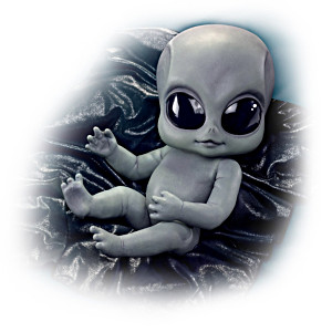 Alien Baby Doll by Kosart Studios
