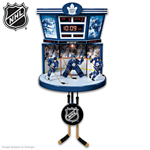 Maple Leafs® Illuminated Clock With Moving Players