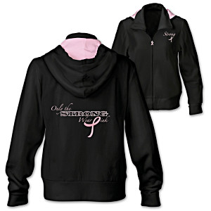 """Only The Strong Wear Pink"" Women's Hoodie"