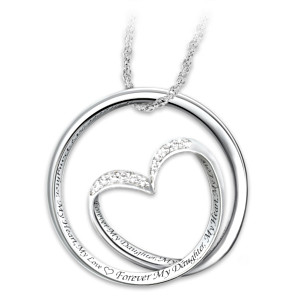 """Forever In My Heart"" Diamond Infinity Pendant For Daughter"