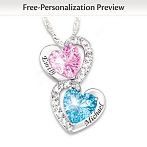 """Every Beat Of My Heart"" Personalized Birthstone Necklace"