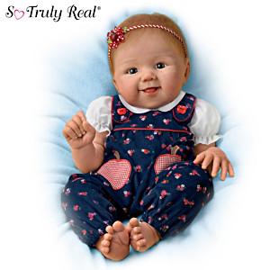 "Sandy Faber ""Apple Dumpling"" Poseable Baby Doll"