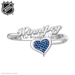 Winnipeg Jets™ Sterling Silver Engraved Ring