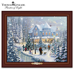 Thomas Kinkade Illuminated Musical Holiday Wall Decor