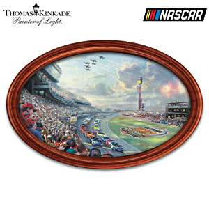 "Thomas Kinkade ""NASCAR Thunder"" Wall Decor With Lights"