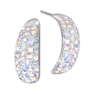 """Aurora Borealis"" Swarovski Crystal Women's Earrings"