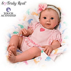 Ella Realistic Touch Activated Weighted Baby Doll