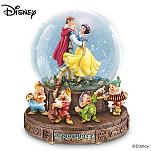 Disney Snow White And The Seven Dwarfs Musical Glitter Globe
