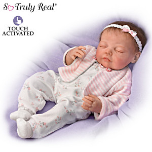 Jannie DeLange Poseable Touch-Activated Lifelike Baby Doll