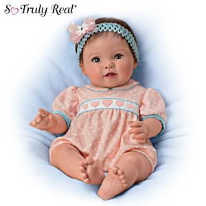 "Ping Lau ""Littlest Sweetheart"" Lifelike Poseable Baby Doll"