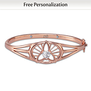 """Mind, Body & Spirit"" Personalized Copper Healing Bracelet"
