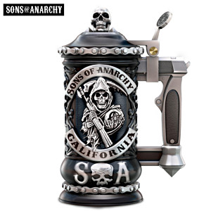 Sons Of Anarchy Sculpted Stein With Pistol Grip Handle