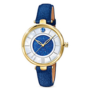 """Forever In Blue"" Denim Women's Watch"
