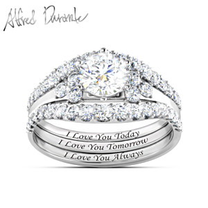 "Alfred Durante ""I Love You Always"" Topaz Stacking Ring"