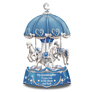 """""""Granddaughter, I Love You To The Moon And Back"""" Music Box"""