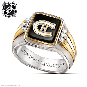 Montreal Canadiens® Men's Vintage 6-Diamond Ring