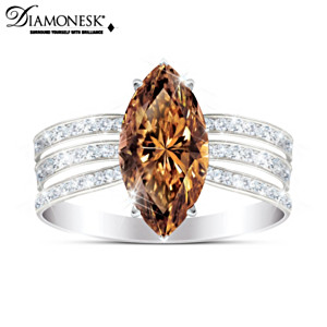 """Diva"" Women's Ring With Over 4 Carats Of Diamonesk Stones"