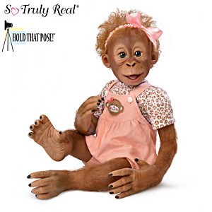 "Hold That Pose™ ""Momoko"" Monkey Doll by Ina Volprich"