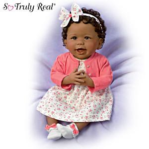 "Linda Murray ""Always Smiling, Aisha"" Weighted Baby Girl Doll"