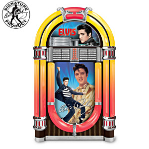 """Elvis Rocks Forever!"" Illuminated Jukebox Music Box"