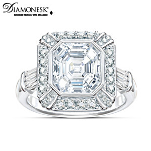 """Regal Elegance"" Asscher-Cut Diamonesk Ring"