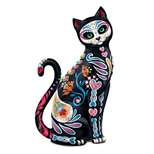 "Blake Jensen ""Purr-fectly Sweet"" Sugar Skull Cat Figurine"