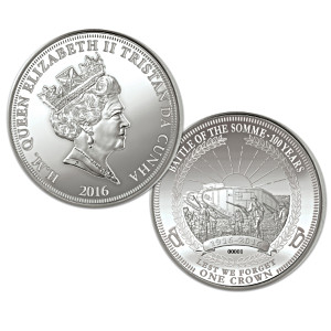 """The Battle Of The Somme"" Sterling Silver Centennial Coin"