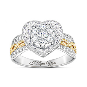 """All My Love"" Women's Heart-Shaped Diamond Ring"