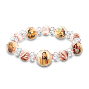 Greg Olsen Heaven's Grace Copper Bracelet With Biblical Art
