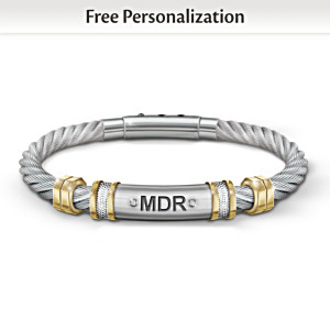 """Strength For My Grandson"" Personalized Men's Bracelet"