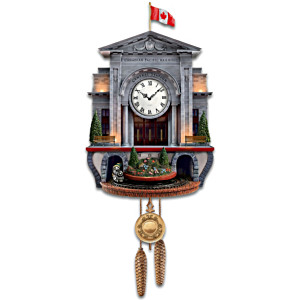 """Spirit Of Canada"" Wall Clock With Lights Sound And Motion"