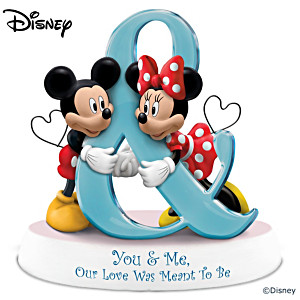 "Disney ""You & Me, Our Love Was Meant To Be"" Figurine"