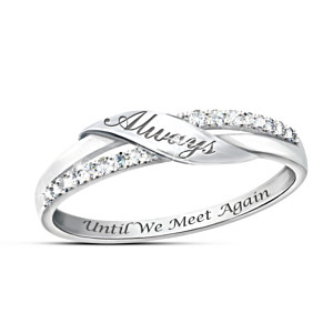 """Until We Meet Again"" Diamond Remembrance Ring"